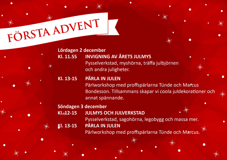 Pausa med JulMys och tävlingar i LIV lokalen på Stortorget