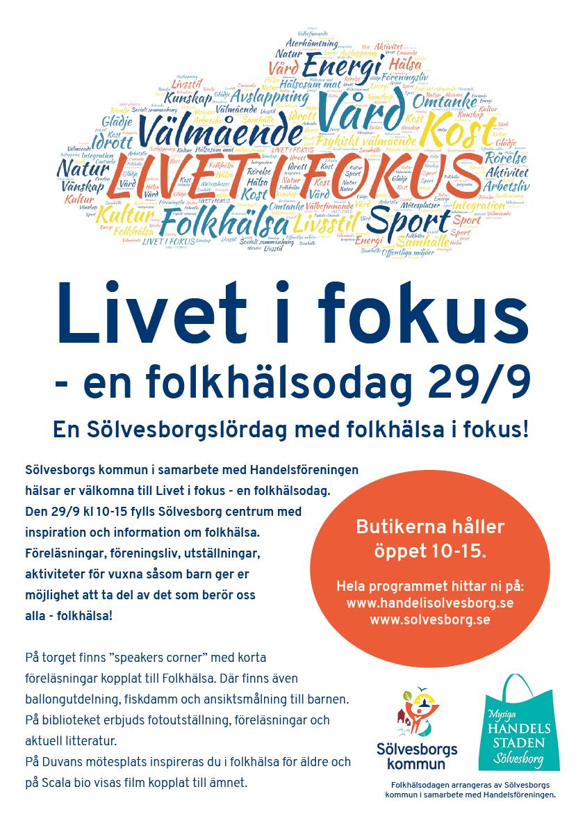 SölvesborgsLördag 29/9 med shopping och folkhälsa i fokus på olika arenor i city!