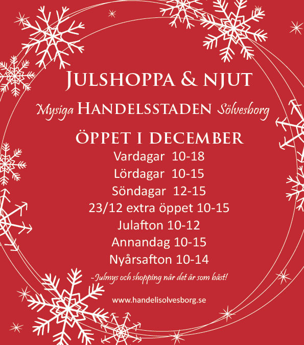 Julshoppa & Njut i mysiga Sölvesborg