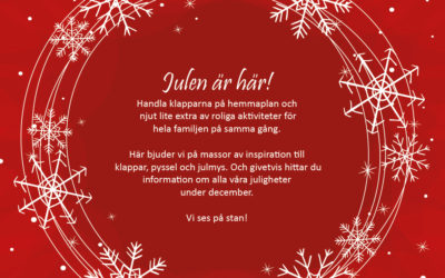 Aktiviteter runt julhandeln under adventshelgerna 2018