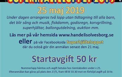 SUPERHJÄLTELOPP 25 maj 2019