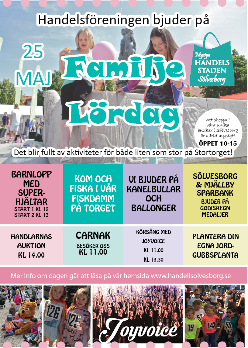 Familjedag och Superhjältelopp 25 maj 2019