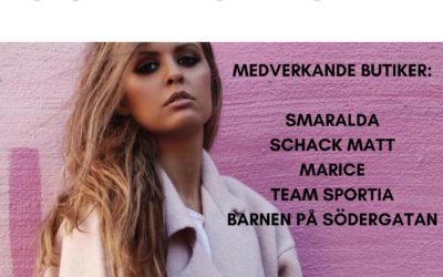 Modevisning på Södergatan 27 april 2019