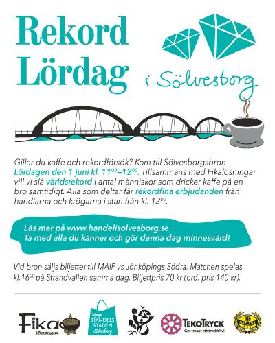 Rekord Lördag med kaffe och rekord priser i mysiga Sölvesborg