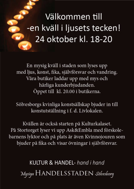 En kväll i ljusets tecken 24 oktober 2019